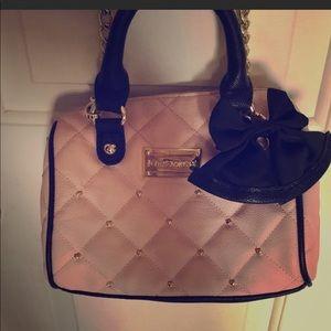 Betsey Johnson small mini baby pink purse